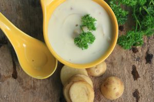 soup with fresh potatoes