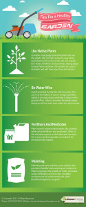 Tips for a Healthy Garden - Infographic